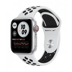 Apple Watch Nike SE 40mm Silver Aluminum Case Smart Watch with Nike Sport Band (MYYW2AE/A) - Silver