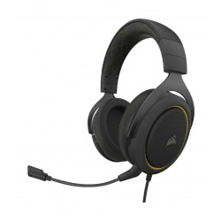 Corsair HS60 Pro 7.1 Virtual Surround Sound Wired Gaming Headset - Yellow