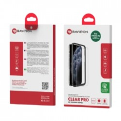 Baykron iPhone 12 Pro Antibacterial Tempered Glass Screen Protector