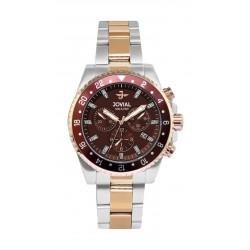 Jovial 42mm Chronograph Gent's Metal Watch - (6701-GAMQ-10)