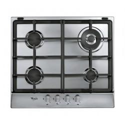 طباخ غاز مسطّح ومدمج من ويرلبول - ٦٠ سم - ٤ شعلات - فضي (AKR 353/IX)