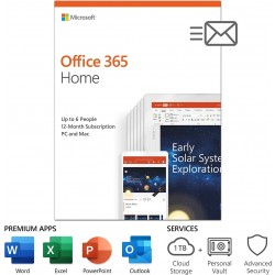 Microsoft Office 365 Home Subscription (12 Month)