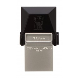 tore, transfer, and share files such as photos, videos, and music with the 16GB DataTraveler microDuo USB 3.0 Flash Drive from Kingston.