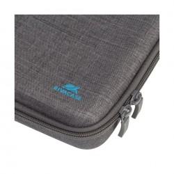 حقيبة آسبين من القماش الكتاني لكاميرات المغامرة من ريفا – رمادي (7512)