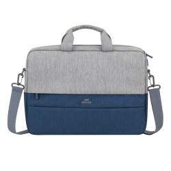 حقيبة اللابتوب بحجم 15.6 بوصة من ريفا - رمادي/أزرق داكن (7932)
