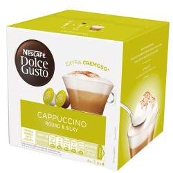 كبسولات قهوة كاباتشينو من دولتشي جستو - ١٦ كبسولة