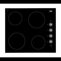 طباخ كهربائي مسطّح ومدمج من بيكو – ٦٠ سم –  شعلات من السيراميك (HIC 64100)