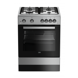 Beko 60X60  4 Burner Gas Cooker (FSGT61121DXL) - Grey