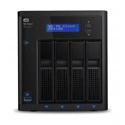 وحدة تخزين للشبكات ماي كلاود بي آر٤١٠٠ بتخزين كلاود من ويسترن ديجيتال – ٤ منافذ قرص صلب سعة ٢٤ تيرا بايت (WDBNFA0240NBK)