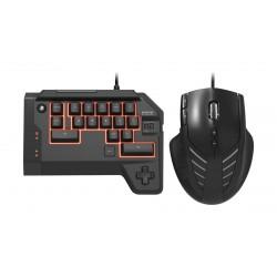 لوحة مفاتيح الألعاب السلكية تي اى سي ٤ + ماوس سلكي من هوري – أسود