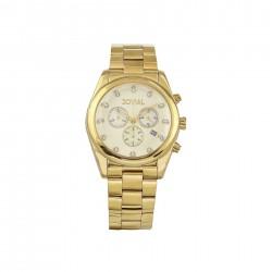 ساعة جوفيال العصرية النسائية بعرض كرونوغراف 42 ملم – سوار معدني -(9152-GGMC-07)  -ذهبي