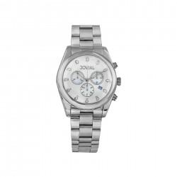 ساعة جوفيال العصرية النسائية بعرض كرونوغراف 42 ملم – سوار معدني  (9152-GSMC-05)- فضي