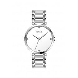 ساعة جوفيال الرجالية التناظرية - معدني (9161-GSMQ-01) - فضي