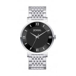 ساعة جوفيال الرجالية التناظرية - سوار معدني (9163-GSMQ-03) - فضي