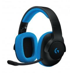 سماعة الألعاب السلكية بروديجي جي٢٣٣ من لوجيتك - أسود/أزرق