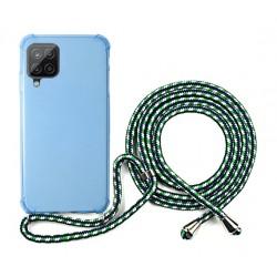 EQ Nake String Samsung Galaxy A12 5G Case - Blue