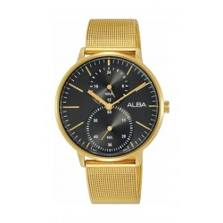 ساعة ألبا المعدنية بعرض تناظري للرجال - ٣٨ ملم - ذهبي (A3A002X1)