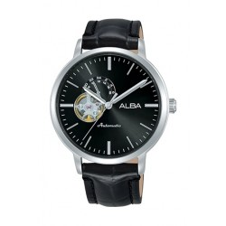 Alba 44mm Automatic Analog Gent's Leather Watch - A9A011X1