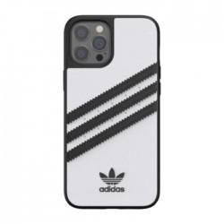 غطاء حماية هاتف آيفون 12 برو ماكس من أديداس  - أسود / أبيض