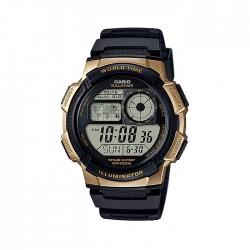 Casio Digital Gents Watch 44mm GRO with Resin Strap (AE-1000W-1A3VDF) - Black