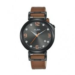 Alba Quartz 34mm Analog Ladies Leather Watch - AG8J21X1