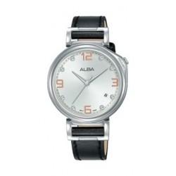 Alba Quartz 34mm Analog Gent's Leather Watch - AG8J23X1