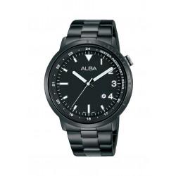 ساعة ألبا الرجالية بعرض تناظري وحزام معدني - ٤٢ ملم (AG8J89X1)