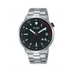 ساعة ألبا الرجالية بعرض تناظري وحزام معدني - ٤٢ ملم (AG8J91X1)