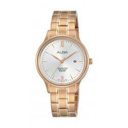ساعة ألبا للسيدات بنظام عرض تناظري - ٣٠ ملم - وردي ذهبي (AH7N80X1)