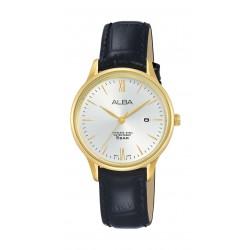 ساعة ألبا للسيدات بنظام عرض تناظري - ٣٠ ملم - فضي (AH7N98X1)