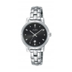 ساعة ألبا العصرية للسيدات بنظام عرض تناظري - ٣٠ ملم - فضي (AH7P53X1)