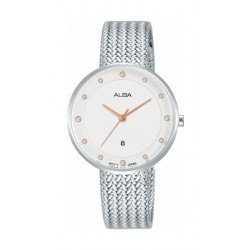 Alba 32mm Quartz Analog Ladies Metal Fashion Watch (AH7Q29X1) - Silver