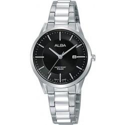 ساعة ألبا بعرض تناظري وحزام من المعدن للسيدات - ٣٠ ملم - فضي (AH7R35X1)