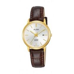Alba 28mm Analog Ladies Leather Watch (AH7R58X1) - Brown