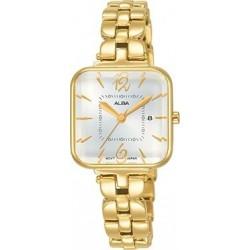 ساعة ألبا بعرض تناظري وحزام معدني للنساء - ٢٥ ملم - ذهبي (AH7R68X1)