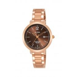 ساعة ألبا النسائية بعرض تناظري وحزام معدني - ٣٠ ملم - (AH7S90X1)