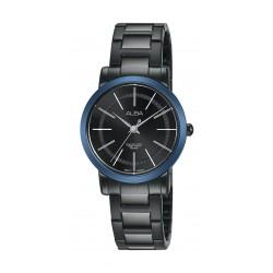 ساعة ألبا للسيدات بنظام عرض تناظري وحزام معدني - ٢٨ ملم - أسود (AH8409X1)