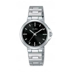 ساعة ألبا العصرية للسيدات بنظام عرض تناظري - ٣٠ ملم - فضي (AH8425X1)