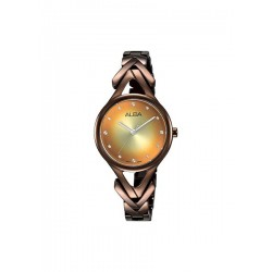 ساعة ألبا بعرض تناظري وحزام معدني للنساء - ٢٨ ملم (AH8501X1)