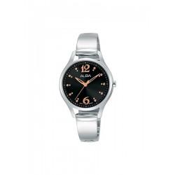 ساعة ألبا بعرض تناظري وحزام معدني للنساء - ٣٠ ملم - فضي (AH8513X1)