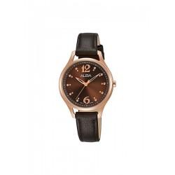 ساعة ألبا العصرية بعرض تناظري وحزام من الجلد للنساء - 30 ملم - (AH8520x1)