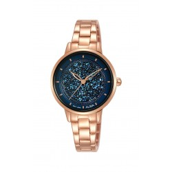 ساعة ألبا النسائية بعرض تناظري وحزام معدني - ٣٠ ملم - (AH8586X1)