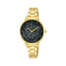 ساعة ألبا النسائية بعرض تناظري وحزام معدني - ٣٠ ملم - (AH8590X1)