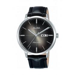 Alba Automatic 42mm Analog Gent's Leather Watch (AL4125X1) - Black
