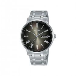 ساعة ألبا بعرض تناظري وحزام معدني للرجال - 40 ملم - (AL4129X1)- فضي