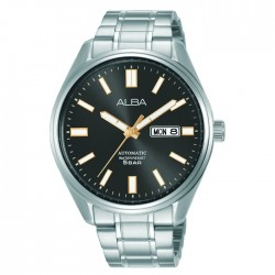 Alba 42mm Men's Analog Watch Grey dial  Stainless steel case