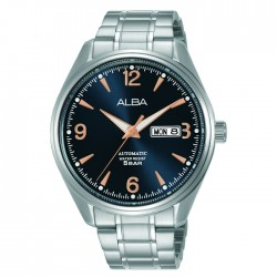 Alba 42mm Men's Analog Watch Stainless steel case  mineral crystal