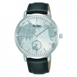 Alba 38mm Ladies Analog Watch Silver White dial tainless steel case