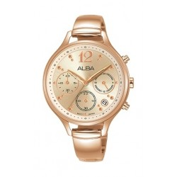 Alba 36mm Chronograph Ladies Leather Fashion Watch - AT3E96X1