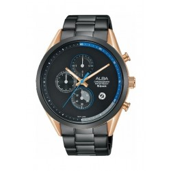 Alba 43mm Chronograph Gent's Metal Watch (AM3566X1) - Black